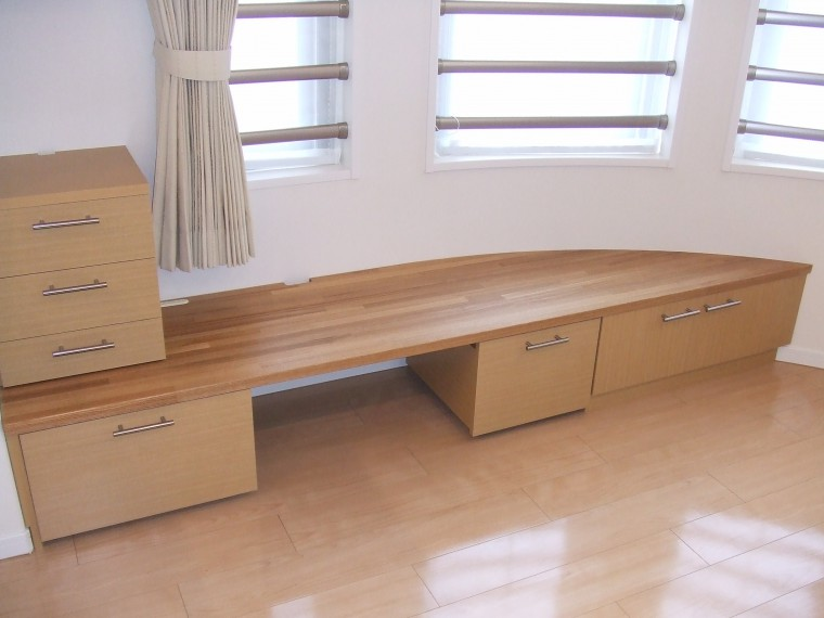 ≪造作≫TVボード、キッチン収納、クローゼット1