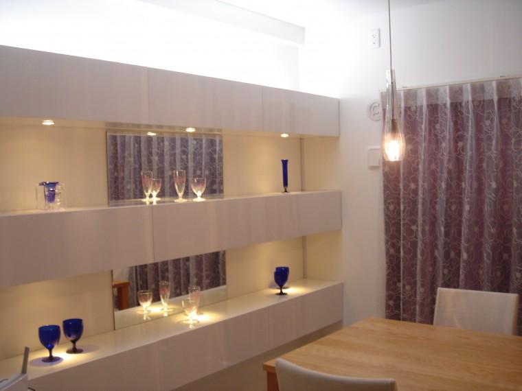 ≪造作≫マンション壁面飾り棚、ダイニング0