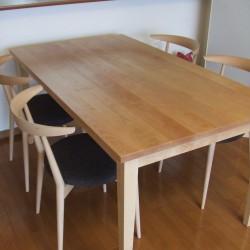≪造作≫ダイニングテーブル、チェア、シルエットシェード納品