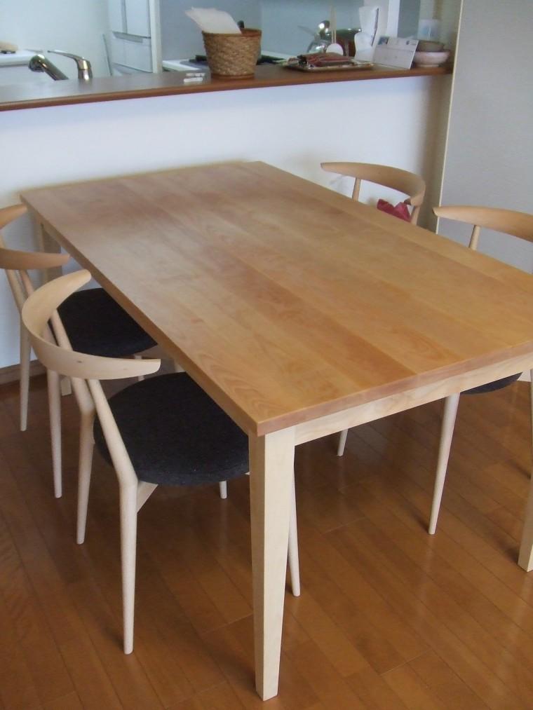 ≪造作≫ダイニングテーブル、チェア、シルエットシェード納品0