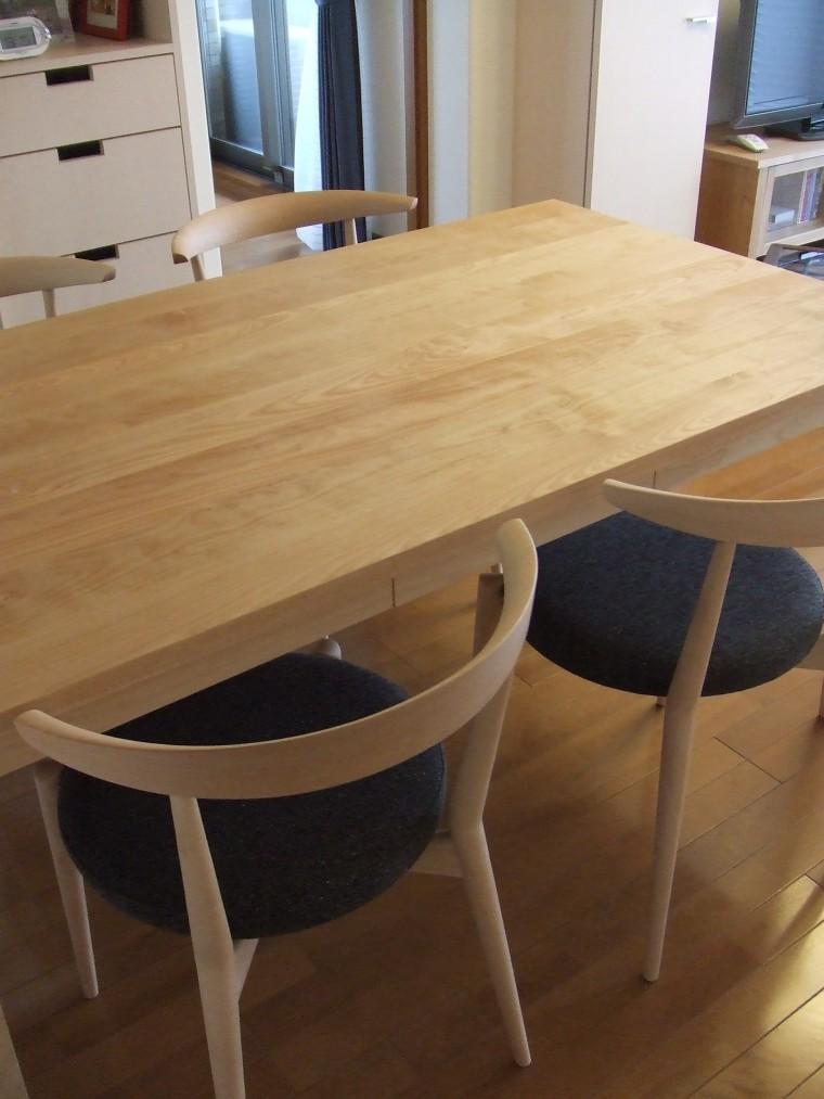≪造作≫ダイニングテーブル、チェア、シルエットシェード納品1