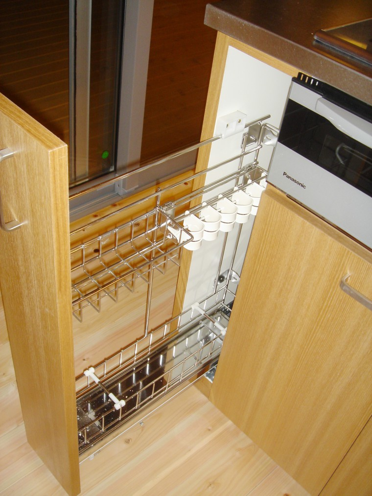 オーダーキッチン、造作キッチン収納2
