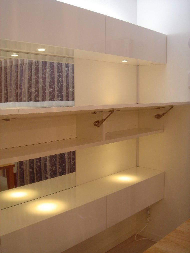 ≪造作≫マンション壁面飾り棚、ダイニング2