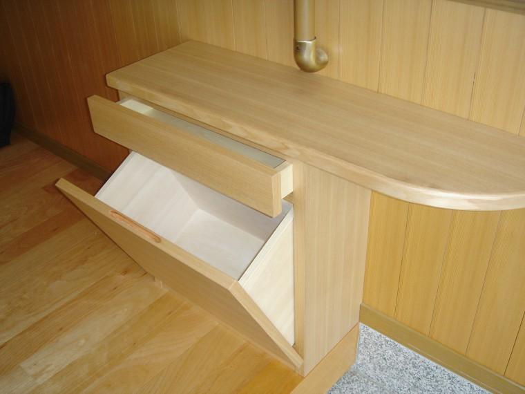 ≪造作≫リビングテーブル、下駄箱、ソファ、ラグ納品5