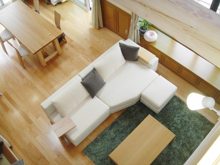 ≪造作≫リビングテーブル、下駄箱、ソファ、ラグ納品6