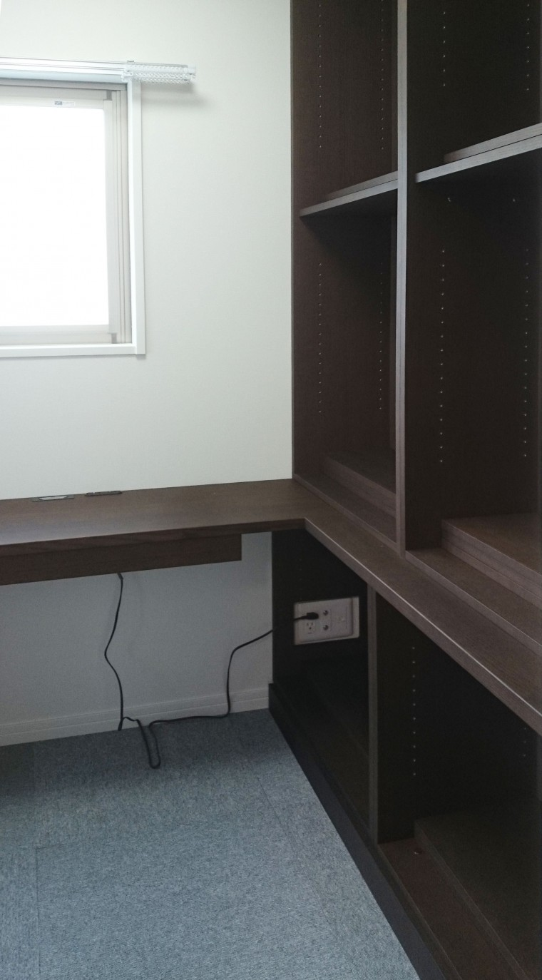 書斎デスク&リビングボード2