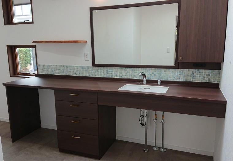 ≪造作≫キッチン収納、洗面化粧台、トイレ手洗6
